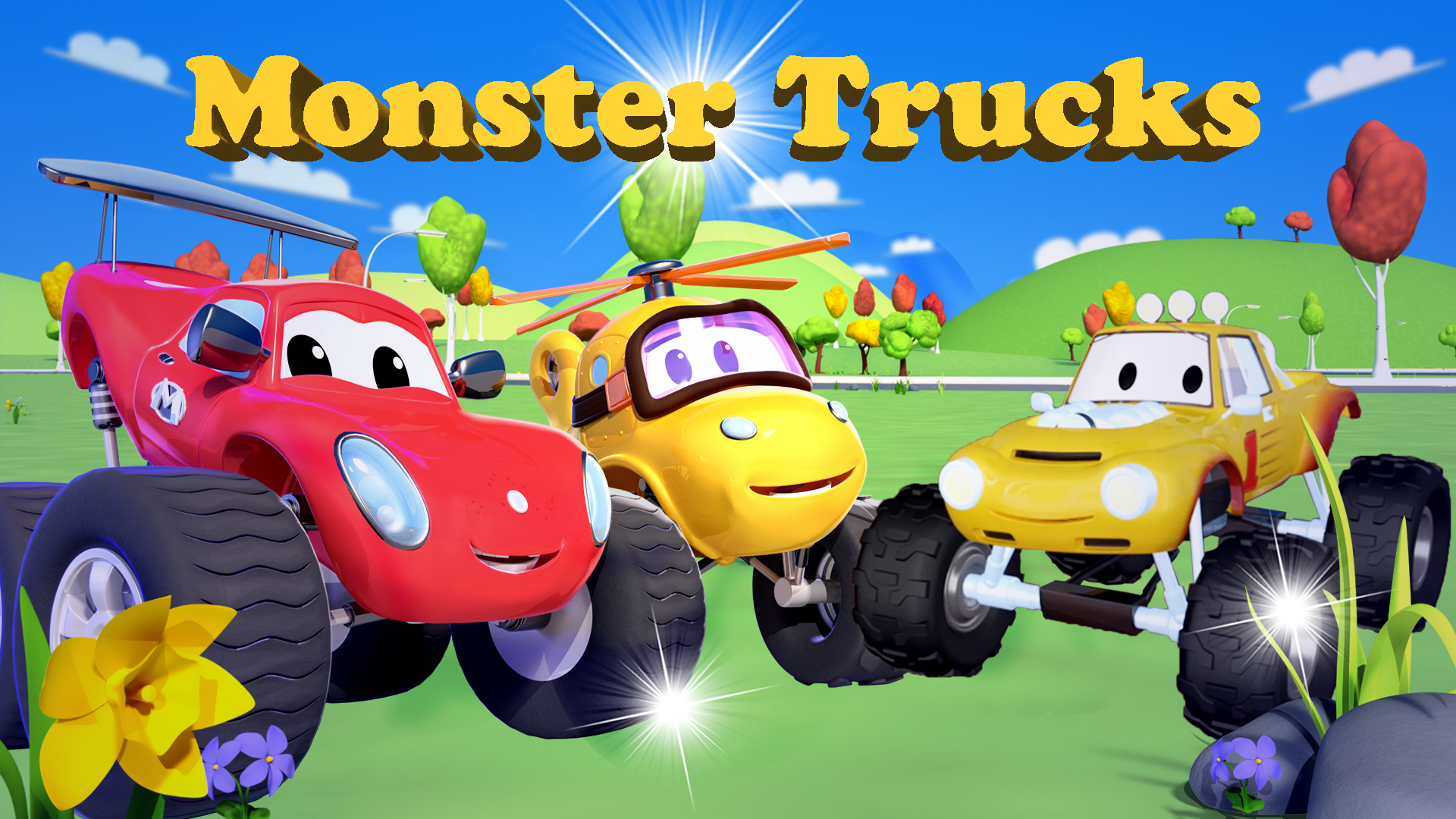 Monster Trucks - Truck Cartoon for Kids