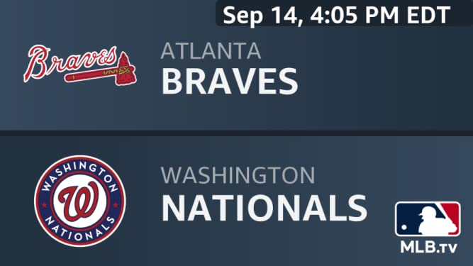 Amazon com: Watch Atlanta Braves at Washington Nationals