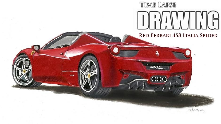Amazon.com: Clip: Time Lapse Drawing Red Ferrari 458 Italia Spider: Jasmina  Susak: Amazon Digital Services LLC