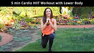 5 Min Cardio HIIT Workout with Lower Body Focus
