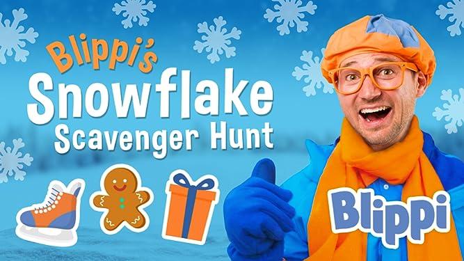 Blippi's Snowflake Scavenger Hunt