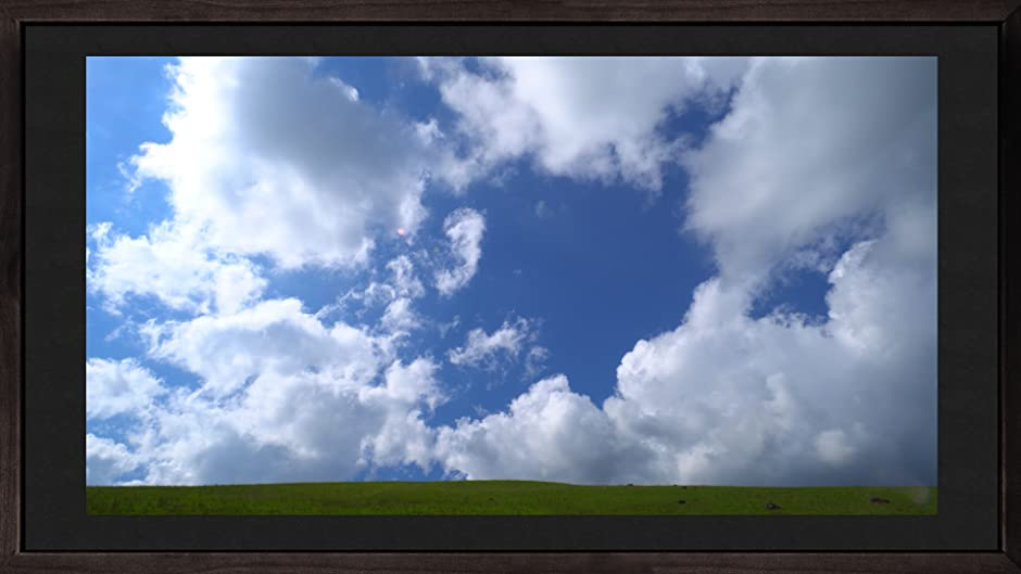Amazon.com: Video Wall Art Slow Motion Sky with Clouds Photo Frame ...