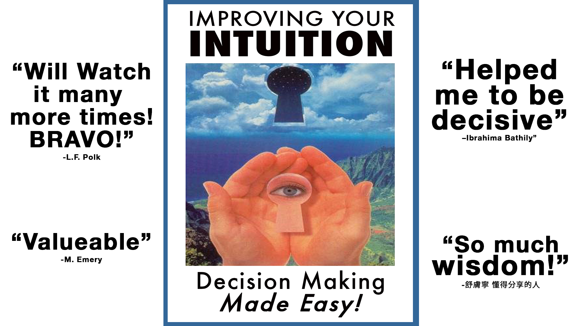 Improving Your Intuition: Decision Making Made Easy!