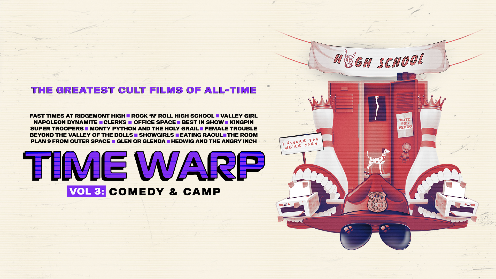 Time Warp: The Greatest Cult Films of All Time Vol 3 - Comedy & Camp