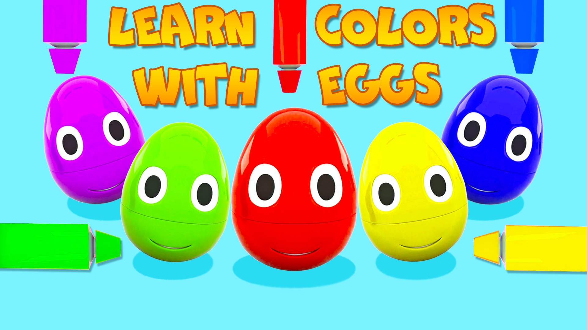 Learn Colors with Eggs
