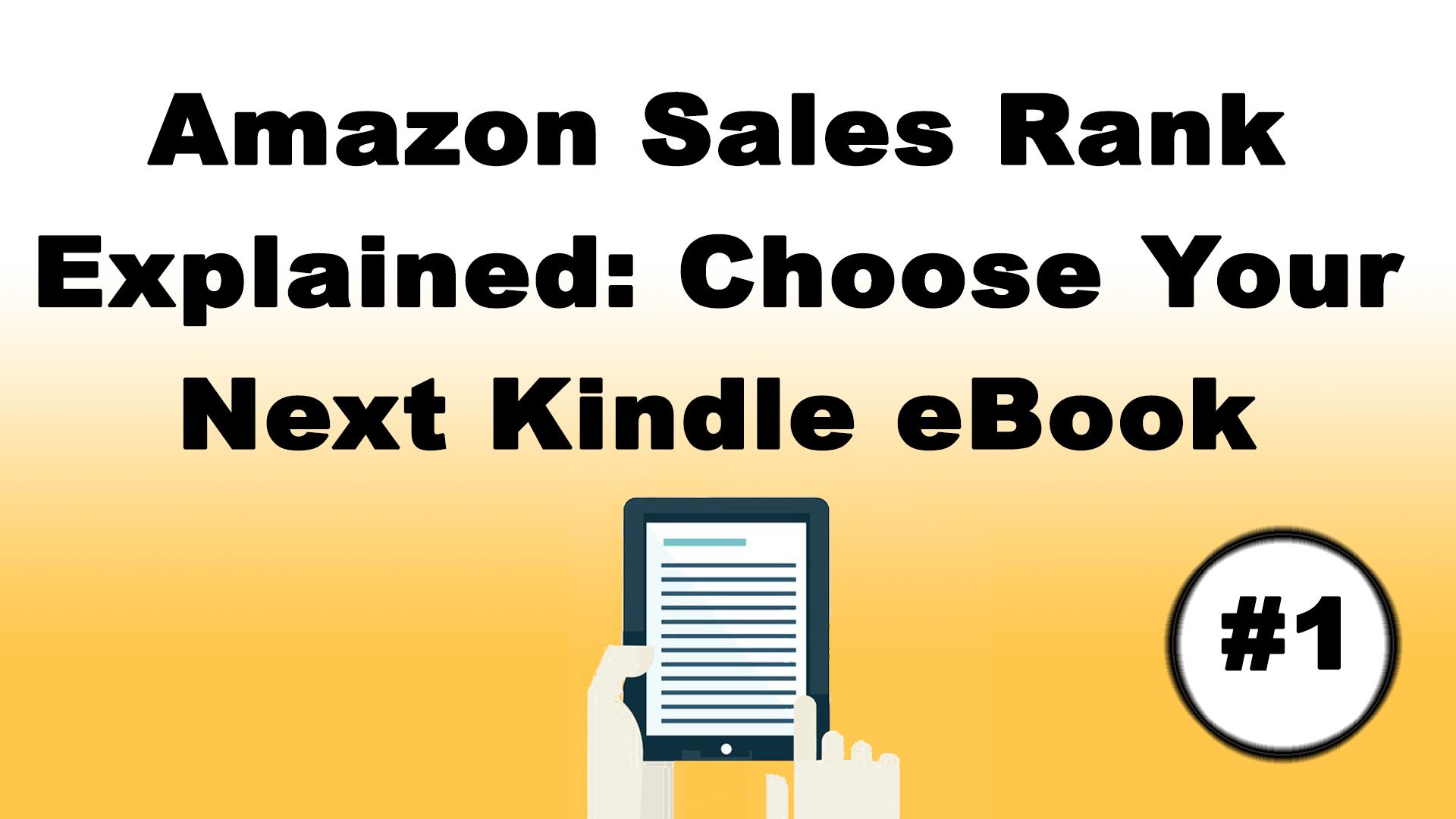 amazon kindle sales rank