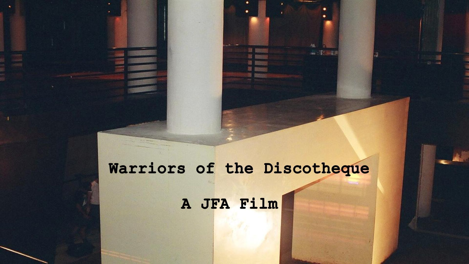 Sex, Drugs, Design: Warriors of the Discotheque