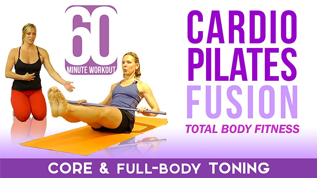 Cardio Pilates Yoga Fusion Workout - Broomstick/Pole or Elastic Workout Band Needed